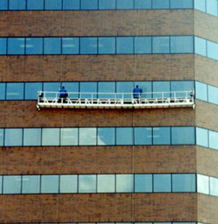 Lansing MI High Rise Swing Commercial Window Cleaning