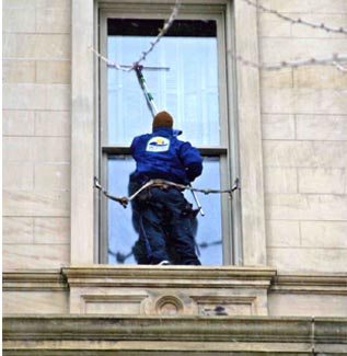 Commercial and High Rise belt window cleaning Lansing and Mid Michigan