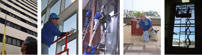 Commercial and High Rise Window Cleaning Service Photos