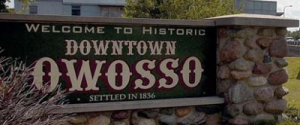 Owosso Michigan Sign